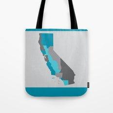 I Love California - California State Map Print Tote Bag