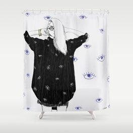 Always Watching Shower Curtain