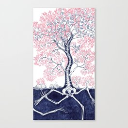 Skeleton Tree Canvas Print