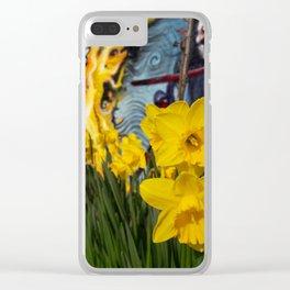 Shoreditch Daffs Clear iPhone Case