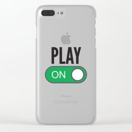 Play On Clear iPhone Case