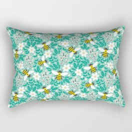 Blooms & Bees Rectangular Pillow