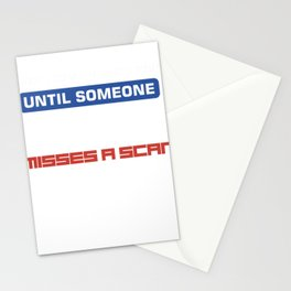 it's all fun and games funny post misses a scan Stationery Cards