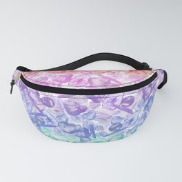 Crystal Gemstone Background Pattern - Geodes + Quartz Points Fanny Pack