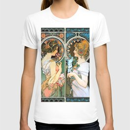 "Alphonse Mucha ""Primrose and Feather"" T-shirt"