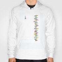 planes Hoodies featuring Paper Planes by Laura Lee Gulledge