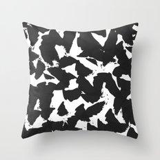 Black Bird Wings on White Throw Pillow
