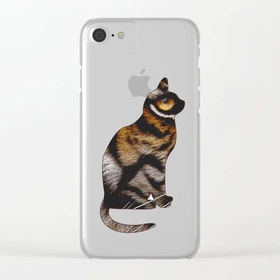 THE TIGER WITHIN Clear iPhone Case