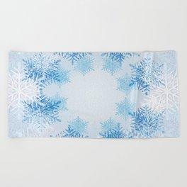 Frost on the Window Beach Towel