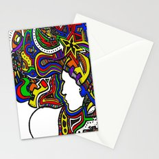 Rainbow Techno Stationery Cards