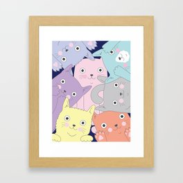 Curious Cats Framed Art Print