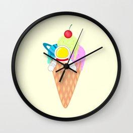 Space Odyssey Ice Cream | Astronaut Ice Cream | Space Ice Cream | Galaxy Ice Cream | pulps of wood Wall Clock