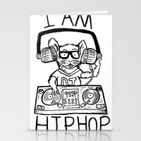 hiphop Stationery Cards featuring I AM HIPHOP  by Geryes
