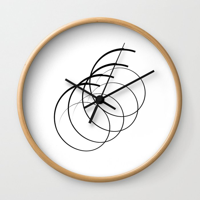 """ Eclipse Collection"" - Minimal Number Six Print Wall Clock"