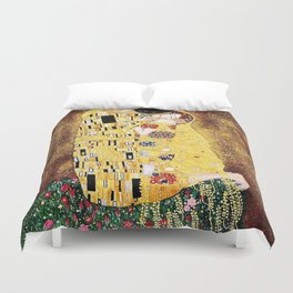 The Kiss with Painterly Effect Duvet Cover
