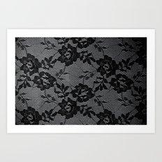 Romance in  Black & White Art Print