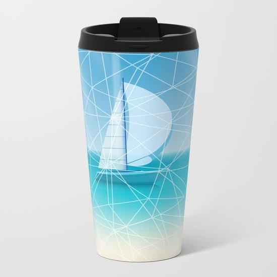 Geometric sea Metal Travel Mug