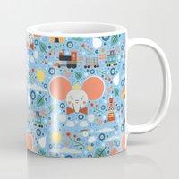 dumbo Mugs featuring Dumbo by Carly Watts