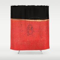 radiohead Shower Curtains featuring Radiohead - Amnesiac by NICEALB