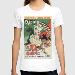 Paris horse races by Chéret T-shirt