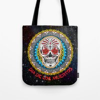 day of the dead Tote Bags featuring Day of the Dead by Gary Grayson