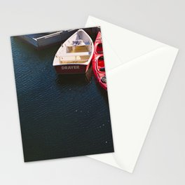ON THE DOCKS IN MAINE I Stationery Cards
