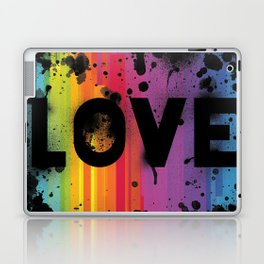 For Love - Black Background Laptop & iPad Skin
