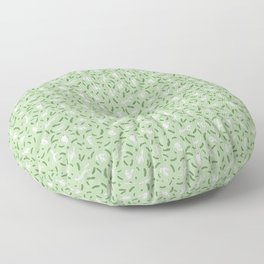 Cats And Cukes - Green Version Floor Pillow