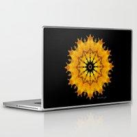 shiva Laptop & iPad Skins featuring Mandala Shiva by Digital Mandalas