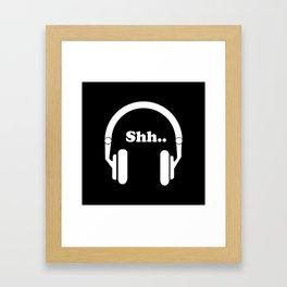 Headphones and music Framed Art Print