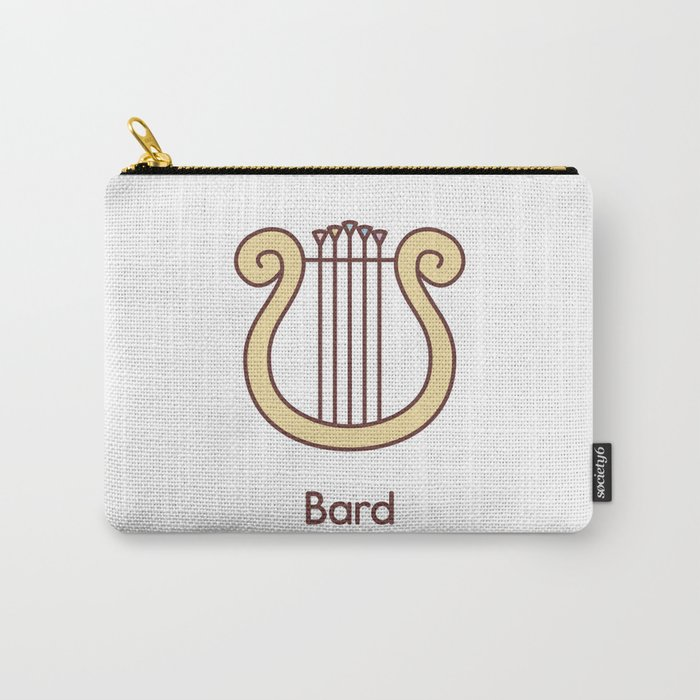 Cute Dungeons and Dragons Bard class Carry-All Pouch