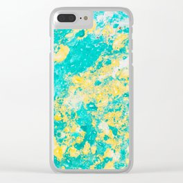 Spring Daze (Alcohol Inks Series 01) Clear iPhone Case