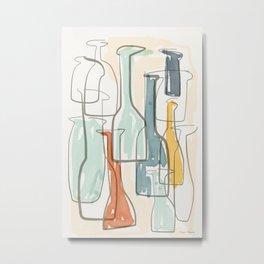 Time in the Bottles Metal Print