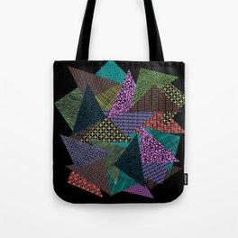 Pattern Mania Collage Vibrant Print Tote Bag