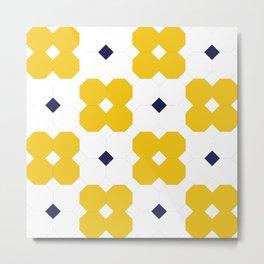 Yellow Octagons  Metal Print