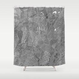High detail black fine liner Shower Curtain