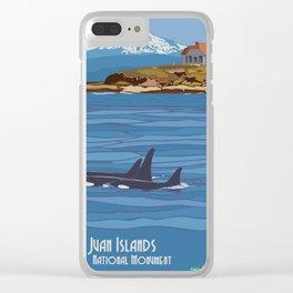 Vintage Poster - San Juan Islands National Monument, Washington (2015) Clear iPhone Case