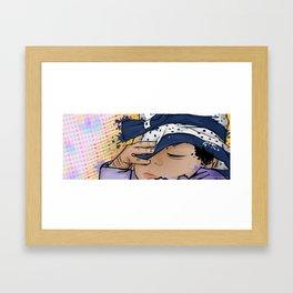 Baby Girl Sleeping Framed Art Print