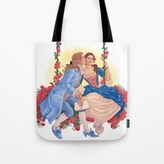 la belle et la bête Tote Bag