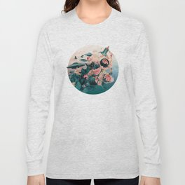 Watermelon&Black cock Long Sleeve T-shirt