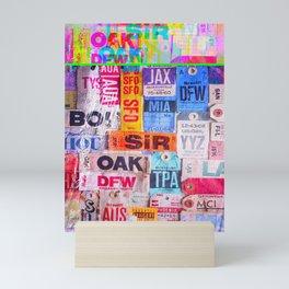 text travel Mini Art Print