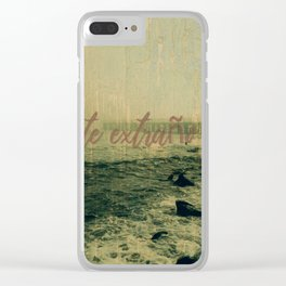 miss you................ Clear iPhone Case