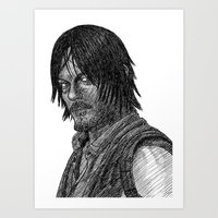 daryl dixon Art Prints featuring Daryl Dixon by Jack Kershaw