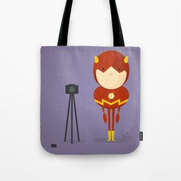 The Flash: My camera hero! Tote Bag