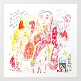 Matisse's Fireplace Art Print