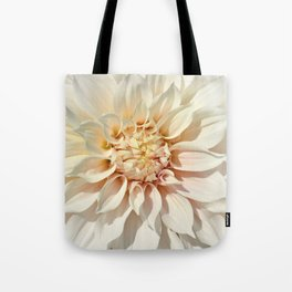 Dahlia white macro 043 Tote Bag