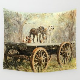 Country Dogs Wall Tapestry