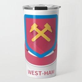 West Ham United Smooth Logo Travel Mug