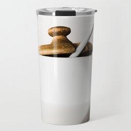 White ceramic sugar cup Travel Mug