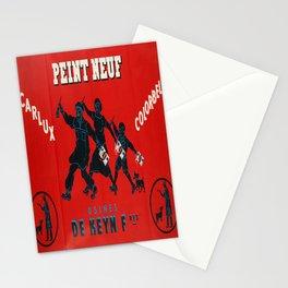 old placard peint neuf usines de keyn fres Stationery Cards